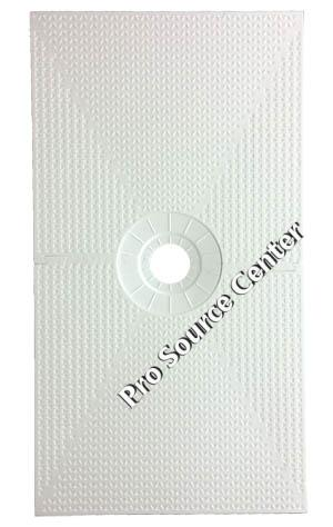 Pro 32 x 60 Inch Center Drain Shower Pan for Shower Systems