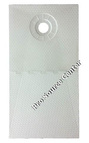 Pro 32 X 60 Inch Offset Drain Shower Pan For Shower Systems. Lower Cost.