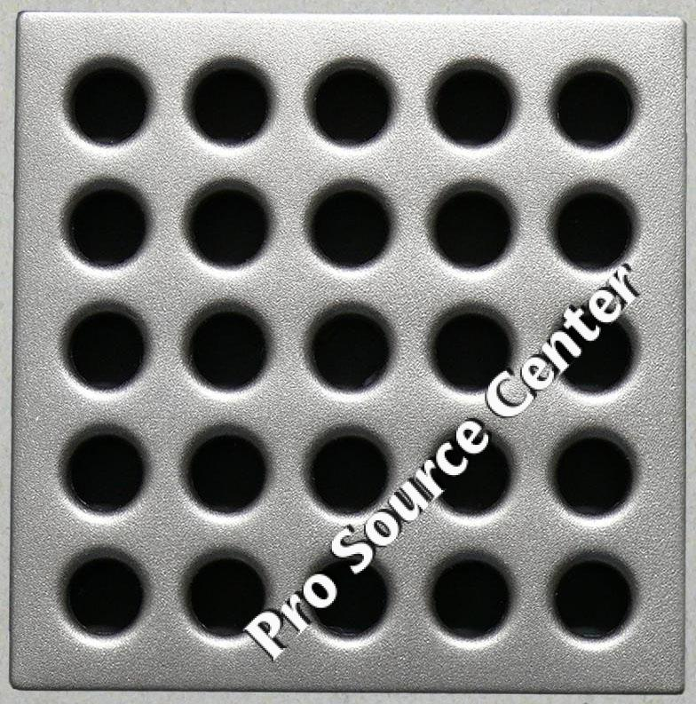 Waterproofing shower kit Drain Grate Cover color Satin Nickel E4410
