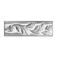 Ceramic Foliage Pattern Rail Accent Tiles 2 x 8 Inches by Tiles-R-Us