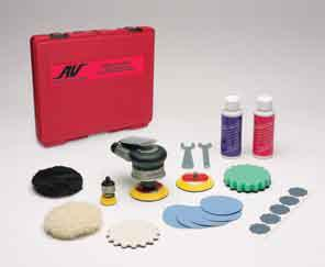 Palm Style Buffer Polisher Rotary Sander Kit by AirVantage