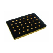 3 x 4 Inch Many Hole Screen Abrasive Back Up Pads by AirVantage
