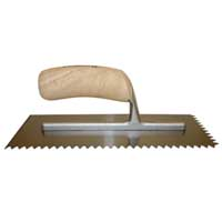 Wood Notched Trowels by Barwalt Tools