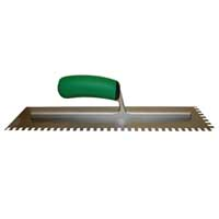 Ultragrip Extra Long Notched Trowels by Barwalt Tools