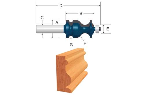 84621M Carbide Tipped Ogee and Bead Bit with Fillet by Bosch