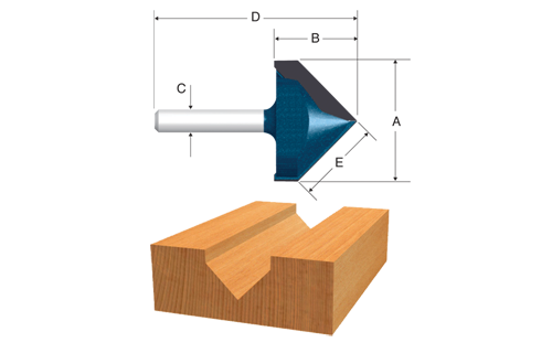 Carbide Tipped V-Groove and Scoring Bits by Bosch