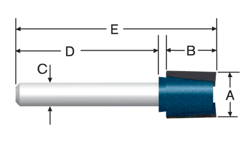 Carbide Tipped Hinge Mortising Bits by Bosch