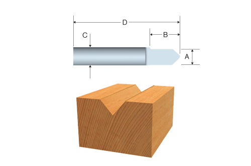 85284 Solid Carbide V-Groove and Scoring Bit by Bosch
