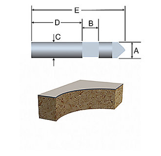85287 Solid Carbide Hole and Flush-Cut Trimmer Bit by Bosch