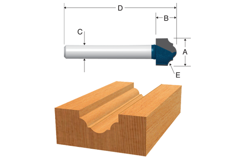 Carbide Tipped Classical Router Bits by Bosch