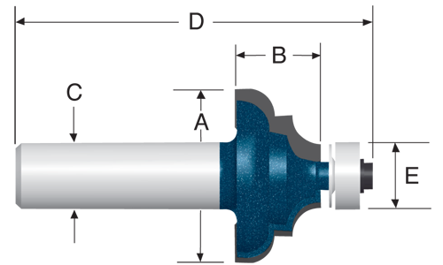 Carbide Tipped Cove and Bead Bits by Bosch