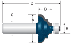 Bosch Carbide Tipped Cove and Bead Bits