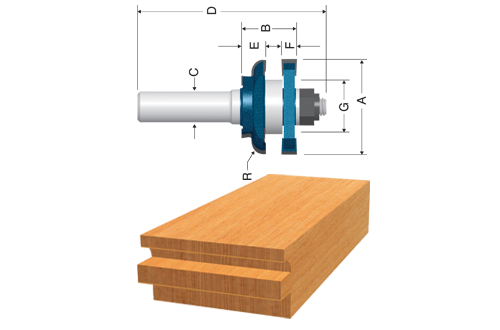 Carbide Tipped Beading Stile and Rail Router Bits by Bosch