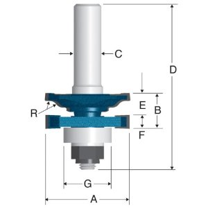 Carbide Tipped Ogee Stile and Rail Router Bits by Bosch