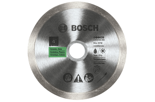 4 Inch Continuous Rim Diamond Blade by Bosch