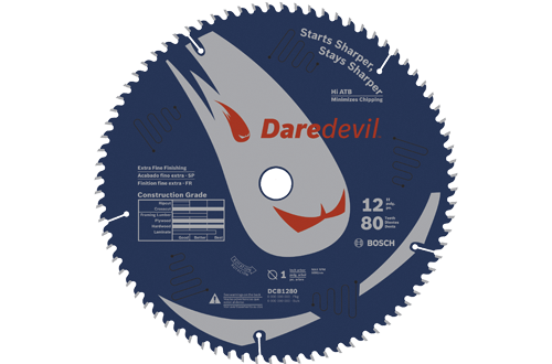 12 Inch 80 Tooth Daredevil Table and Miter Saw Blade Extra Fine by Bosch