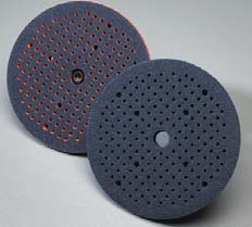 Carbo CleanAir 6 Inch Back Up Pads by Carborundum Abrasives