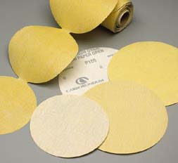 Gold 6 Inch PSA Discs Roll Grits 60 - 800 by Carborundum Abrasives