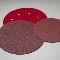8 Inch Premier Red Hook and Loop Sanding Discs Grits 36-80 by Carborundum Abrasives