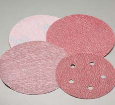 8 Inch Red PSA 8 Hole Discs Grits 36 and 80 by Carborundum Abrasives