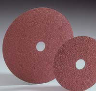 Carbo White Merit Aluminum Oxide Resin Fiber Discs 5 Inch by Carborundum Abrasives