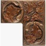 Metallic Tile Tuscan Corner Piece 2 x 4 by 2 x 4 Inches