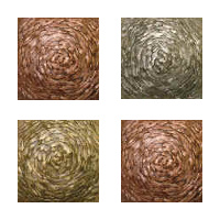 Metallic Tile Moonstruck Artisan Field Tile 2 x 2 Inches by Tiles-R-Us