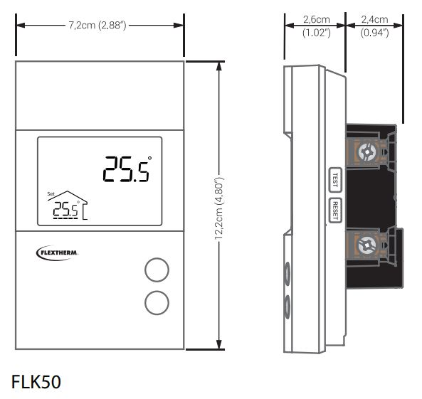 Flextherm Flp50 Non Programmable Thermostat For Heated Floors