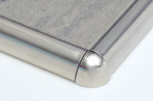 Round Edge Tile Trim Aluminum Outside Corner - Pro Source Center