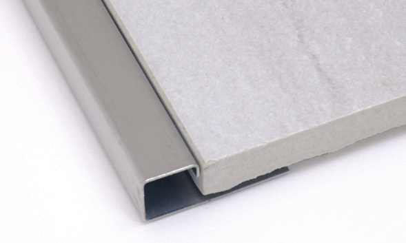 Square Edge Tile Trim in Mirror Stainless Steel by Tiles-R-Us