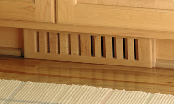 Clearance  Wood Vent Register  ToeKick 2 5 x14  Natural Finish Maple  by Grill Works