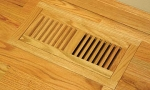 Wood Vent Floor Register Trimline Flush With Frame