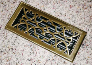 Metal Vent Brass Register by Grill Works
