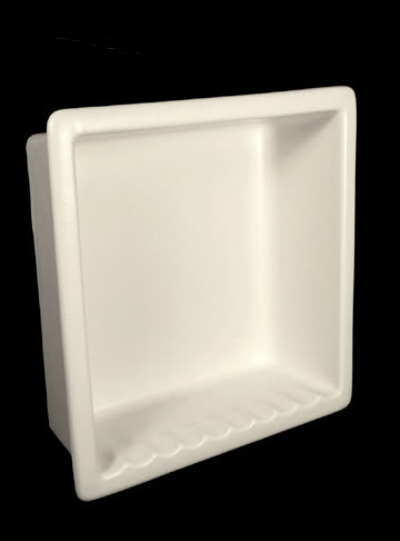 Ceramic Large Recessed Shower Niche H12R Maroon by HCP Industries