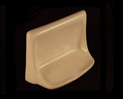 Ceramic Soap Dish 4x6in H46 by HCP Industries
