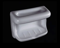 Ceramic Soap and Washcloth Dish 4x6in H46W by HCP Industries