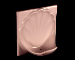 Flatback Ceramic Shell Soap Dish 6x6in H66SFB by HCP Industries