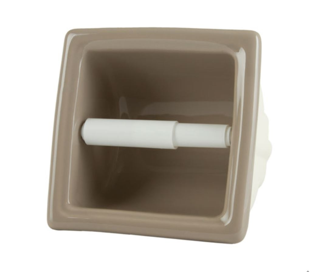 TT66R Ceramic Recessed Tissue Holder for Tile Showers and Baths 6 x 6 by HCP Industries