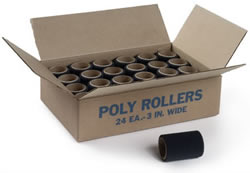 Poly Roller 3 Inch By Jen Manufacturing 24 Rollers 1 Case by Jen Manufacturing