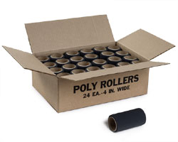 Poly Roller 4 Inch By Jen Manufacturing 24 Rollers 1 Case by Jen Manufacturing