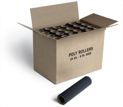 Poly Roller 7 Inch By Jen Manufacturing 24 Rollers 1 Case by Jen Manufacturing