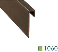 1060 1 8 Inch Square Vinyl Wall Cove Cap by Loxcreen
