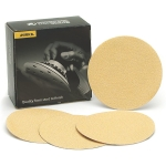 Mirka 6 Inch Gold No Hole Hook and Loop 36-500 Grit Sanding Discs