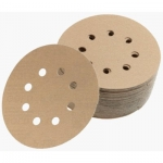 Premium Gold 5 Inch 8 Hole Hook n Loop 80 - 400 Grit Discs Qty 50