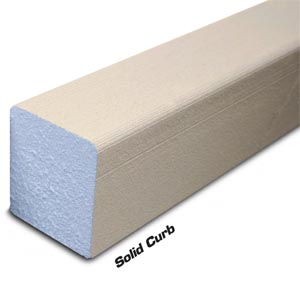 Solid Shower Curb 4 Foot by Noble Company
