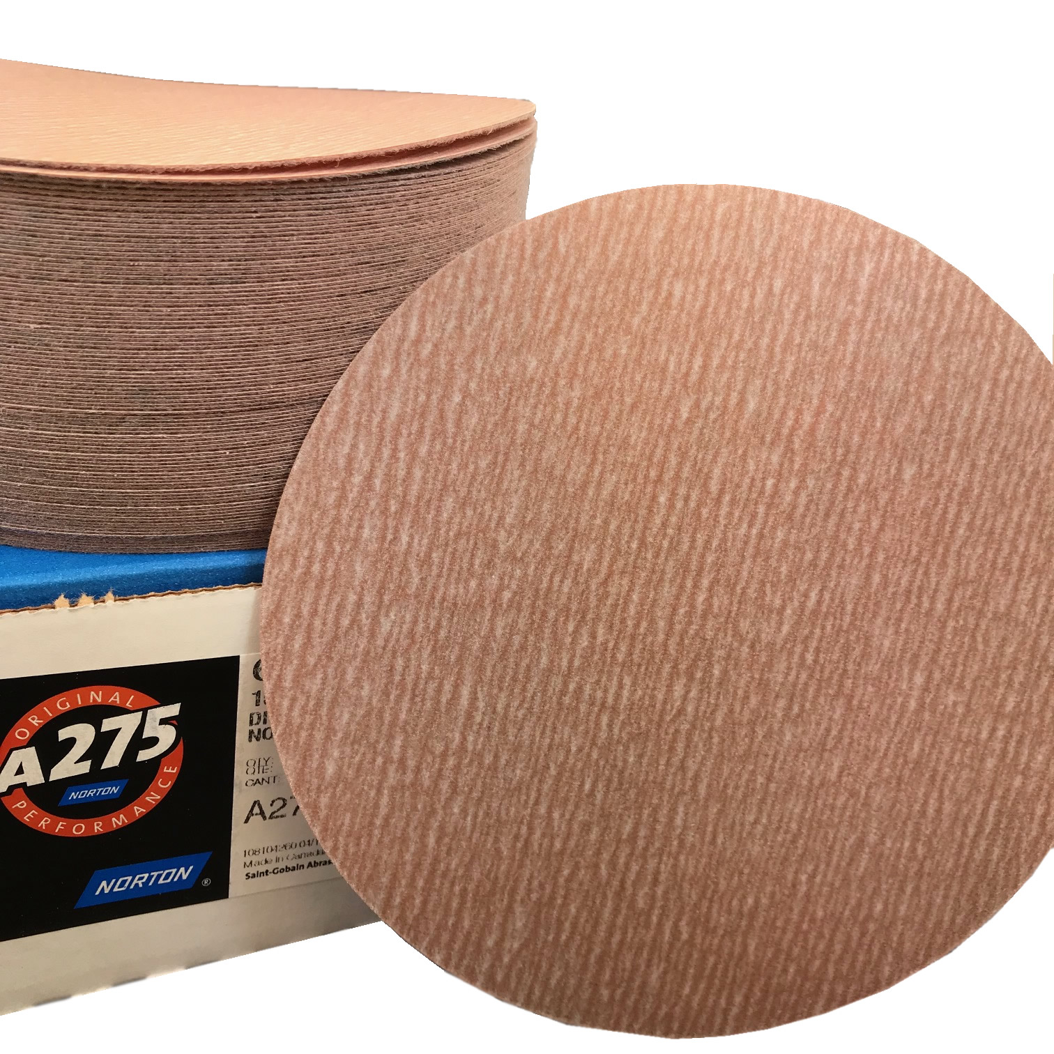A275 NorGrip Hook and Loop 6 Inch Discs Grits 80 - 1500 by Norton Abrasives