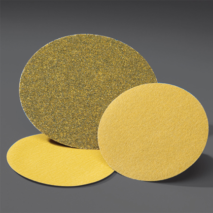 Gold NorGrip Hook and Loop 5 Inch Discs Grits 80 - 320 by Norton Abrasives