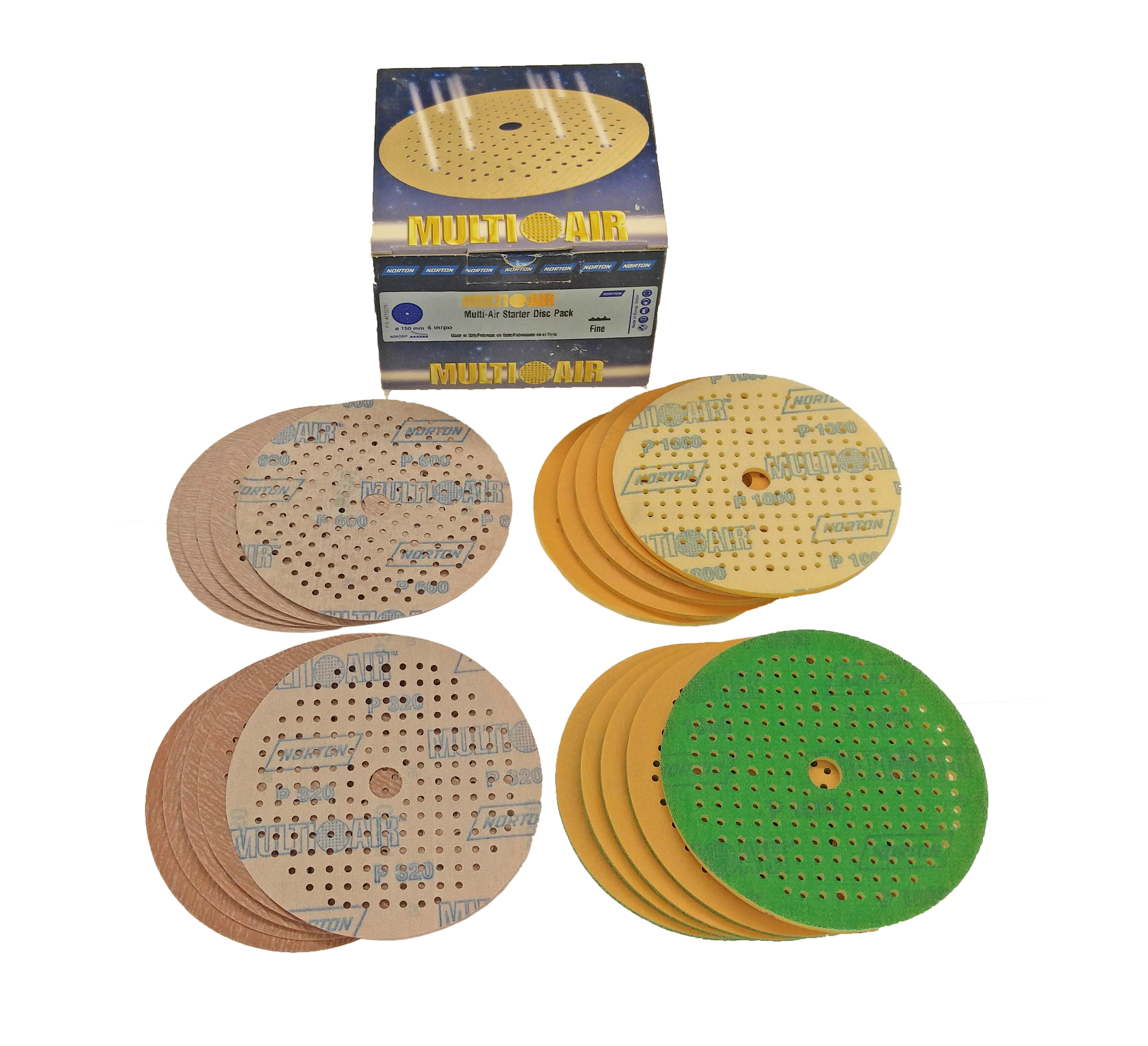 6 Inch Multi-Air A275 No-Fil 6 Inch Fine Sanding Sample Pack by Norton Abrasives