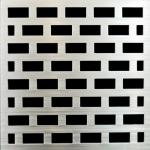PSC Pro Stainless Steel Drain Grate Cover - Brick Design