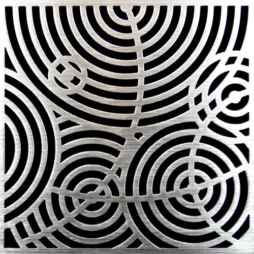 PSC Pro Stainless Steel Drain Grate Cover - Ripples Design by Pro-Source Center